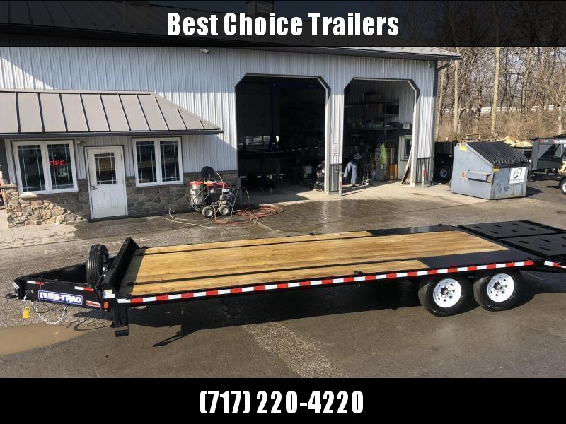 "2020 Sure-Trac 102x25' HD Beavertail Deckover Trailer 15000# GVW * FULL WIDTH RAMPS (STAND UP OR FLIPOVER) * INTEGRATED TOOLBOX * DUAL JACKS * 12"" I-BEAM MAINFRAME * PIERCED FRAME * RUBRAIL/STAKE POCKETS/PIPE SPOOLS/10 D-RINGS * CROSS TRAC BRACING"