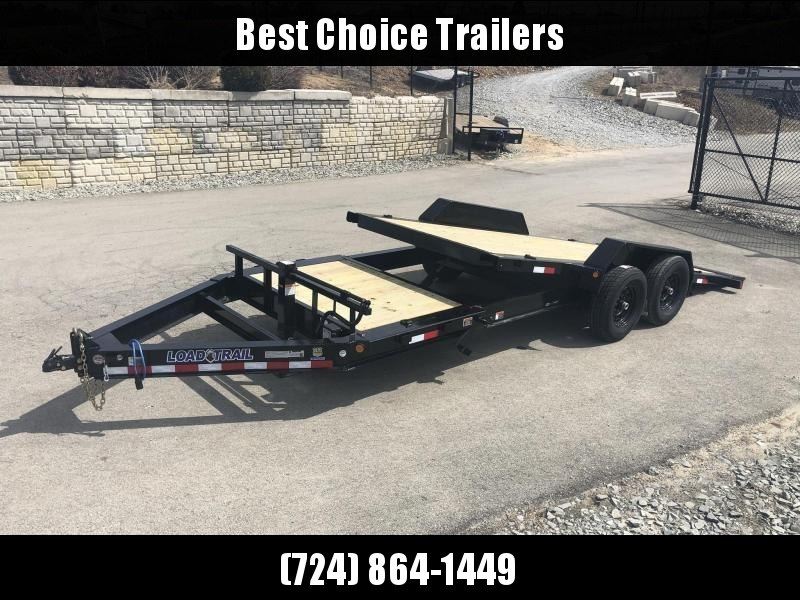 "2020 Load Trail 102x24' Gravity Tilt Equipment Trailer 14000# GVW * 16+8' SPLIT DECK * 102"" DECK W/ DRIVE OVER FENDERS * 8"" I-BEAM MONOFRAME * DEXTER TORSION AXLES * GRAVITY TILT W/ STOP VALVE * TOOL TRAY * WINCH PLATE * RUBRAIL * D-RINGS * 2-3-2 WARRANTY"