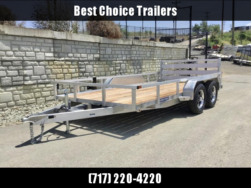 2021 Sure Trac 7x16' Tube Top Aluminum Utility Landscape Trailer 7000# GVW * ALUMINUM WHEELS * BI-FOLD GATE