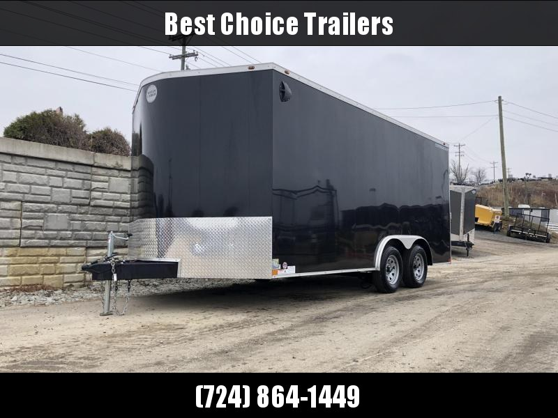 2020 Wells Cargo 8.5x16' Road Force V-nose Enclosed Car Trailer 7000# GVW *  BLACK EXTERIOR * RAMP DOOR * SCREWLESS * TUBE STUDS * RV DOOR * ARMOR GUARD * 1PC ROOF * TIE DOWNS