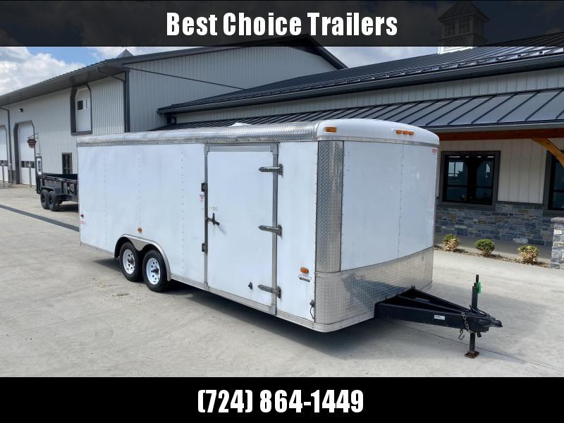 "USED 2013 Haulin Trailers 8.5x20' Enclosed Car Hauler Trailer * ROUND NOSE * ROUND TOP * 48"" DOOR * RAMP DOOR * TRIPLE TUBE TONGUE * STONEGARD * VINYL WALLS * VINYL FLOOR * ROOF VENT * WINCH PLATE"
