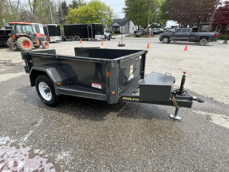 "2021 Corn Pro 5x8' Low Profile Dump Trailer 5000# GVW * UNDERMOUNT RAMPS * GREY * RUNNING BOARDS * DROP AXLES * URETHANE PAINT * OVERSIZE PISTON * 10 GAUGE FLOOR (1 PIECE) * 6"" CHANNEL FRAME * TUBE BED FRAME * STRUCTURAL CHANNEL C/M"