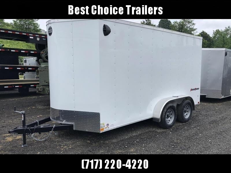 "2021 Wells Cargo 7x14' Fastrac Deluxe Enclosed Cargo Trailer 7000# GVW * WHITE EXTERIOR * RAMP DOOR * V-NOSE * .030 EXTERIOR * 6'6"" HEIGHT * TUBE STUDS * 3/8"" WALLS * 1 PC ROOF * 16"" O.C. WALLS * BULLET LED'S"