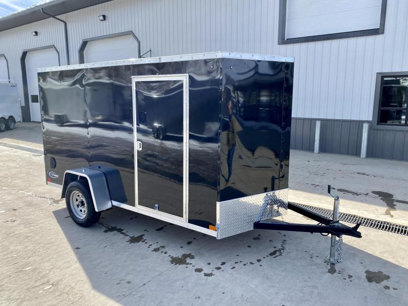 "2021 ITI Cargo 6x12' Enclosed Cargo Trailer 2990# GVW * BLACK EXTERIOR * .030 SEMI-SCREWLESS * 1 PC ROOF * 3/8"" WALLS * 3/4"" FLOOR * 16"" STONEGUARD * HIGH GLOSS PAINTED FRAME"