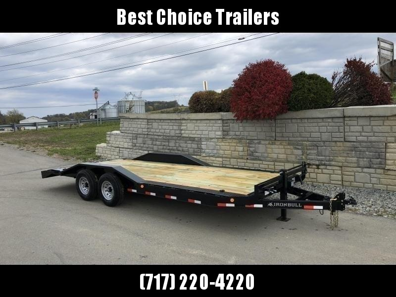 "2021 Ironbull 102""x22' Buggy Hauler Car Trailer 14000# GVW * 102"" DECK * DRIVE OVER FENDERS * RUBRAIL/STAKE POCKETS/PIPE SPOOLS/D-RINGS * ADJUSTABLE COUPLER * 12K JACK * DEXTER'S * 2-3-2 WARRANTY * OVERWIDTH RAMPS"