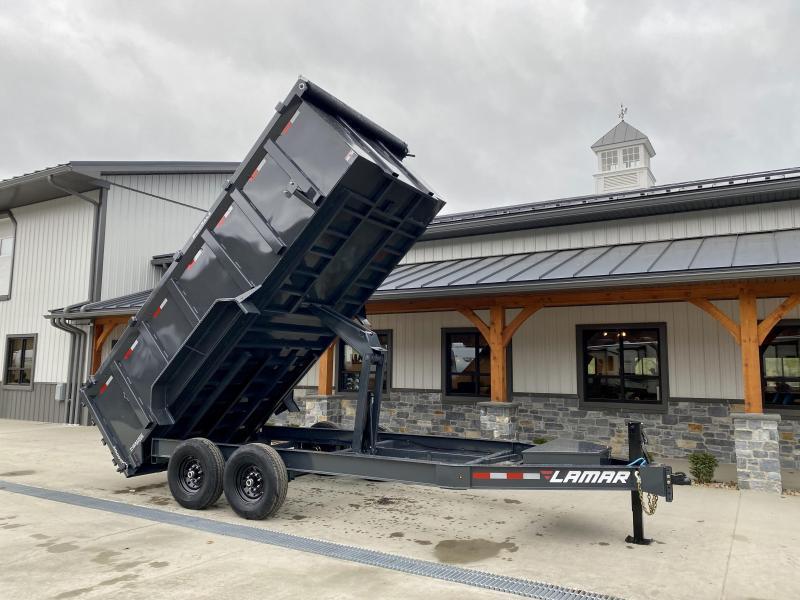 2021 Lamar 7x12' 14000# gvw dump trailer dl831227-hs4