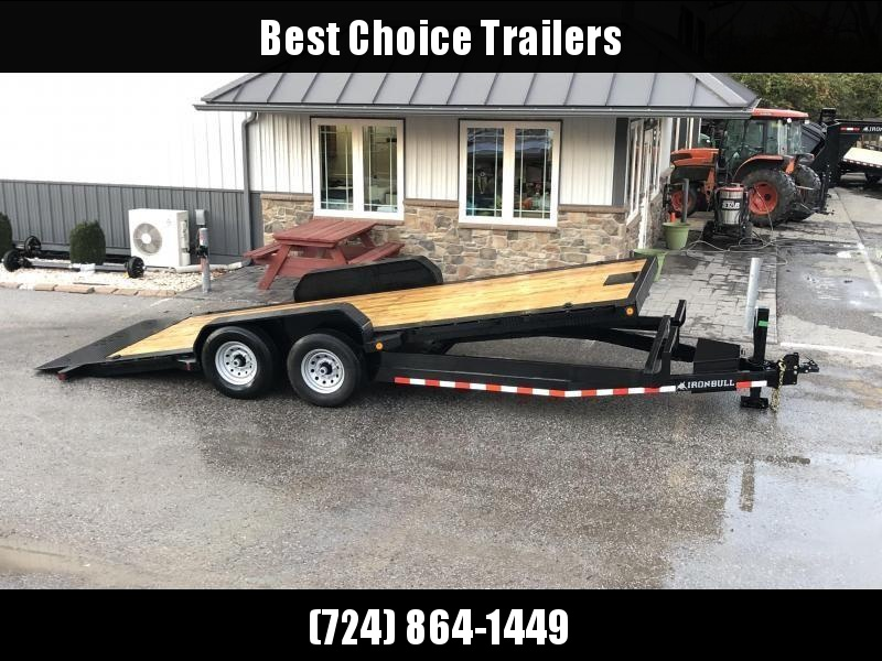 2020 Ironbull 7x22 Power Tilt Equipment Trailer 14000# GVW * LOW LOADING ANGLE * POWER TILT * WINCH PLATE * DEXTER TORSION AXLES * REMOVABLE FENDERS * RUBRAIL/STAKE POCKETS/PIPE SPOOLS/D-RINGS * 2-3-2 WARRANTY * 12K JACK
