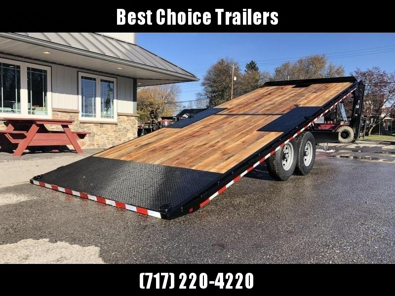 "2021 Sure-Trac 102x24' Power Tilt Deckover 15000# GVW * SCISSOR HOIST * WINCH PLATE * OAK DECK UPGRADE * 10"" I-BEAM MAINFRAME * 6"" TUBE SIDE RAIL * RUBRAIL/STAKE POCKETS/PIPE SPOOLS/8 D-RINGS * LOW LOAD ANGLE"
