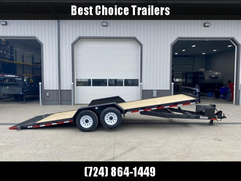 2021 Corn Pro 7x23' Power TIlt Equipment Trailer 12000# GVW * POWER TILT * DEXTER TORSION AXLES * TOOLBOX * HD DIAMOND PLATE FENDERS * HD FACEPLATE COUPLER * EPOXY PRIMER + URETHANE PAINT * 12K JACK