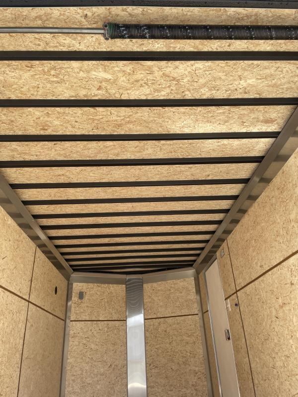 """2021 ITI Cargo 7x14' Enclosed Cargo Trailer 7000# GVW * BLACK EXTERIOR * WALK ON ROOF * FRONT LADDER * 3 LADDER RACKS * .030 SEMI-SCREWLESS * 1 PC ROOF * 6'6"""" INTERIOR * 3/8"""" WALLS * 3/4"""" FLOOR * PLYWOOD * 24"""" STONEGUARD * HIGH GLOSS PAINTED FRAME * RV DO"""