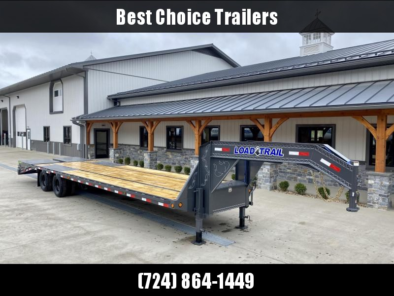 "2021 Load Trail 102x32' Gooseneck Beavertail Deckover Trailer 22000# GVW * FULL WIDTH RAMPS (STAND UP OR FLIPOVER) * DEXTER AXLES * HDSS SUSPENSION * SPARE TIRE * 12""/19#  I-BEAM FRAME *PIERCED FRAME * PRIMER * 2-3-2 WARRANTY"