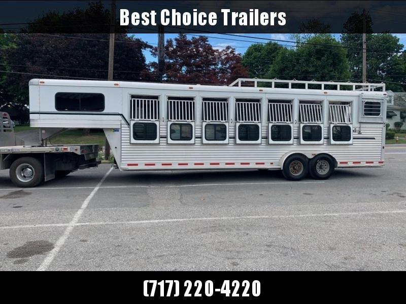 USED 2013 Adam Aluminum Gooseneck Pro Racer 7-Horse Trailer 14000# GVW