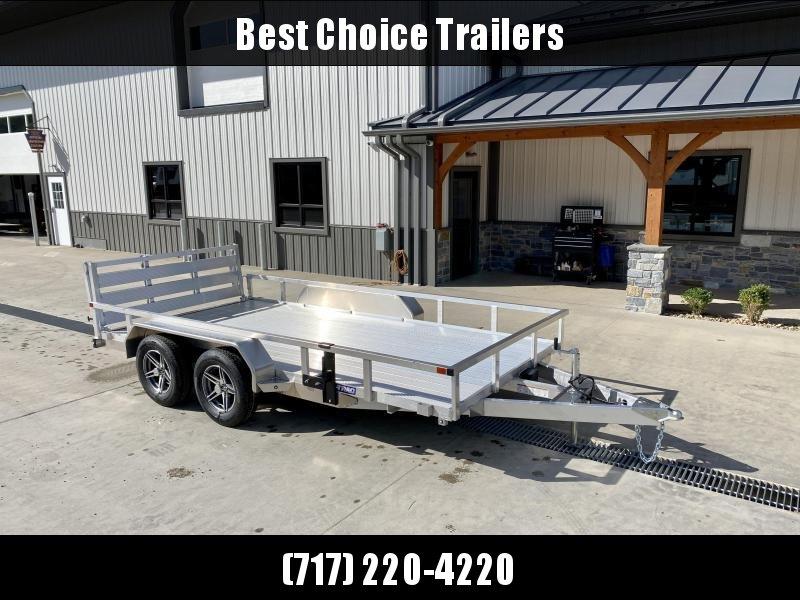2021 Sure Trac 7x14' Tube Top Aluminum Utility Landscape Trailer 7000# GVW * EXTRUDED ALUMINUM FLOOR * ALUMINUM WHEELS * BI-FOLD GATE * CLEARANCE