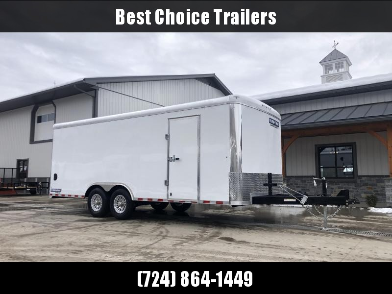 2021 Sure-Trac 8.5x20' Brickman Spec Landscape Pro Commercial Landscape Trailer 9900# GVW * EVERY AVAILABLE OPTION * WHITE EXTERIOR * ON-BOARD 51 GAL FUEL TANK * ALUMINUM TORSION CABLELESS RAMP * OVERHEAD CABINETS * HD HASPS * BEAVERTAIL * TUBE C/M * 2X6""
