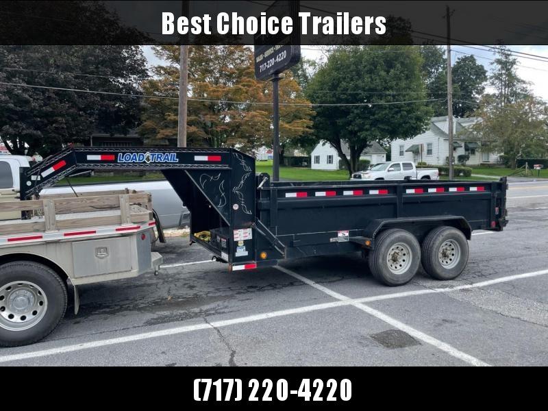 USED Load Trail 7x14' Gooseneck Dump Trailer 14000# GVW * SCISSOR HOIST * TARP KIT * 14-PLY TIRE UPGRADE * SPARE TIRE * DEXTER AXLES * COMBO GATE