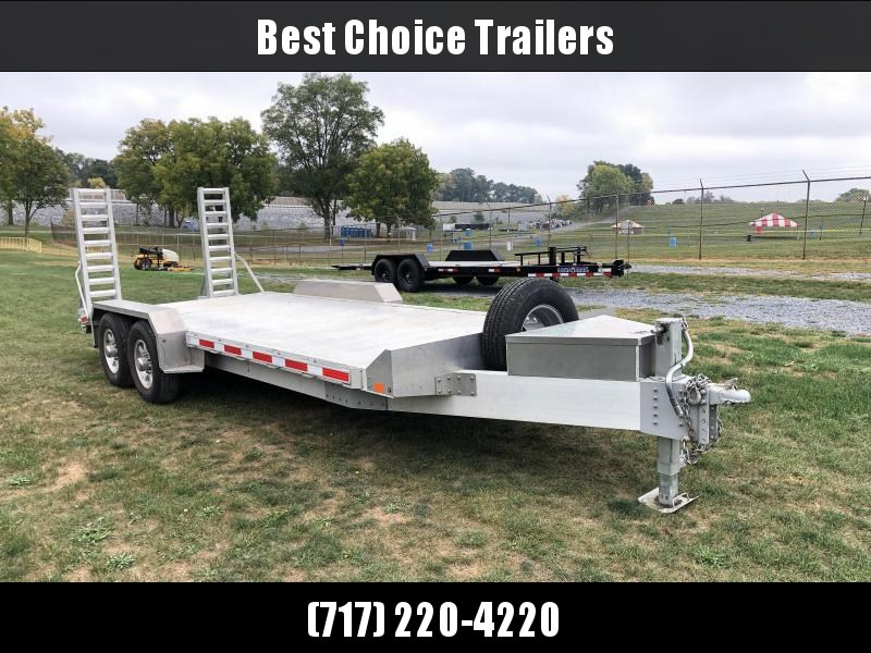 USED 2017 EBY 7x20' All Aluminum Equipment Trailer 14000 GVW * ALL ALUMINUM * EXTRUDED FLOOR * DEXTER TORSION * TOOLBOX