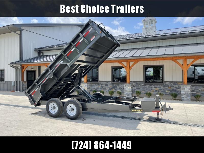 """2021 Corn Pro 7x12' Low Profile Dump Trailer 14000# GVW * UNDERMOUNT RAMPS * GREY * RUNNING BOARDS * DROP AXLES * URETHANE PAINT * OVERSIZE 6"""" SCISSOR * 7GA FLOOR * 8"""" STACKED FRAME"""