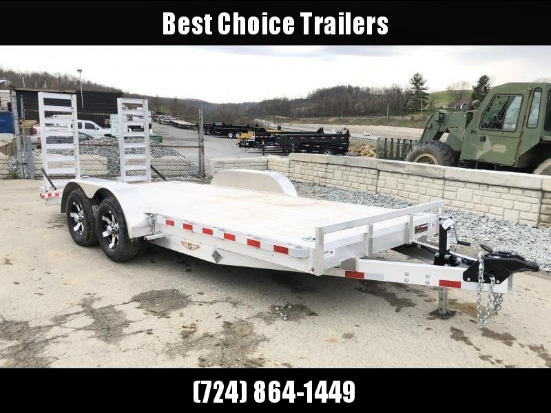NEW H&H 7x20 Aluminum Equipment Trailer 14000# GVW * EXTRUDED ALUMINUM FLOOR * TORSION * SWIVEL D-RINGS * EXTRA STAKE POCKETS * CLEARANCE