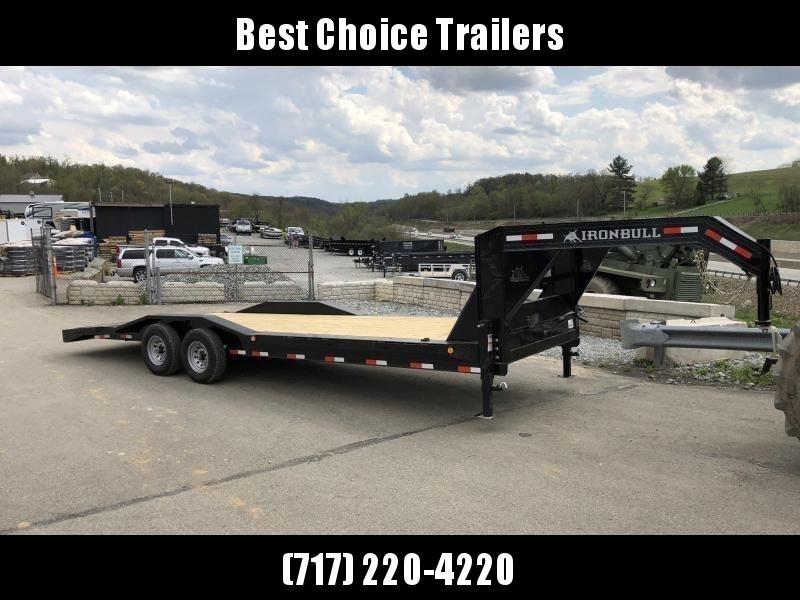 """USED 2019 Ironbull 102x26' Gooseneck Car Hauler Equipment Trailer 14000# GVW * 8"""" FRAME * OVERWIDTH RAMPS * 102"""" DECK * DRIVE OVER FENDERS * BUGGY HAULER"""