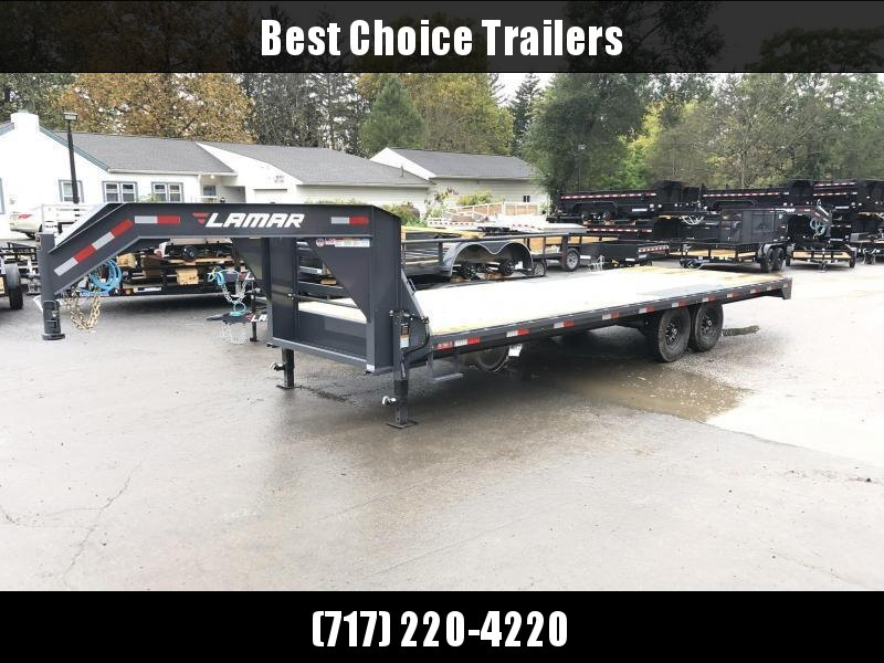 2020 Lamar 102x22' Gooseneck Deckover Trailer 14000# GVW * 8' SLIDE IN RAMPS * DUAL JACKS