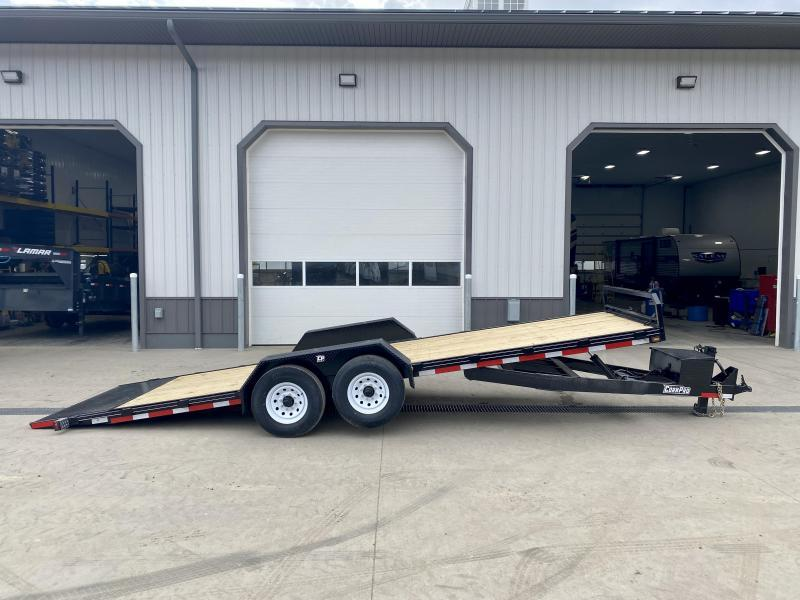 2021 Corn Pro 7x19' Power TIlt Equipment Trailer 12000# GVW * POWER TILT * DEXTER TORSION AXLES * TOOLBOX * HD DIAMOND PLATE FENDERS * HD FACEPLATE COUPLER * EPOXY PRIMER + URETHANE PAINT * 12K JACK