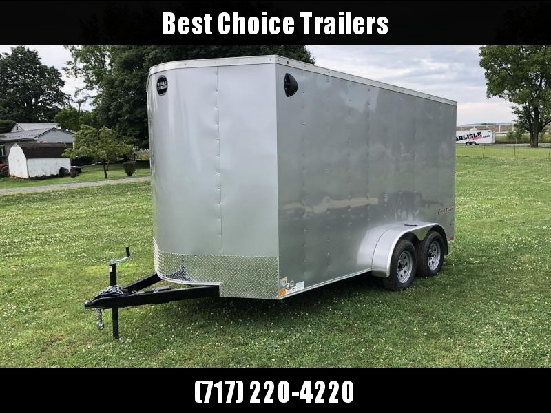 "2021 Wells Cargo 7x14' Fastrac DELUXE Enclosed Cargo Trailer 7000# GVW * SILVER EXTERIOR * RAMP DOOR * V-NOSE * .030 EXTERIOR * 7' HEIGHT - UTV PKG * TUBE STUDS * 3/8"" WALLS * 1 PC ROOF * 16"" O.C. WALLS * BULLET LED'S"