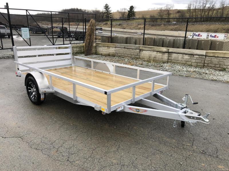 2021 H&H 6.5x12' 2990# gvw aluminum utility trailer h7612rsa-030