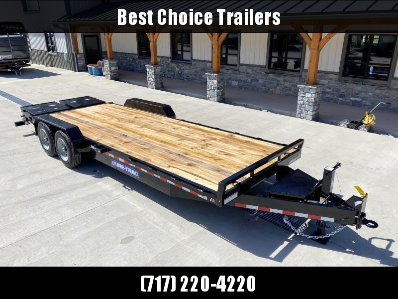 """2021 Sure-Trac 7x22' Equipment Trailer 16000# GVW * 8000# AXLE UPGRADE * 17.5"""" 16-PLY RUBBER * OIL BATH HUBS * FULL WIDTH RAMPS W/ SPRING ASSIST * 3 3/8"""" BRAKES * 8"""" TONGUE * HD COUPLER * 12K JACK * RUBRAIL/STAKE POCKETS/D-RINGS * SPARE MOUNT"""