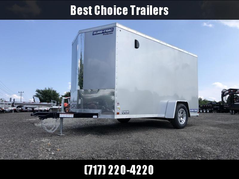2021 Sure-Trac 6x12' STW Enclosed Cargo Trailer 2990# GVW * SILVER * RAMP DOOR