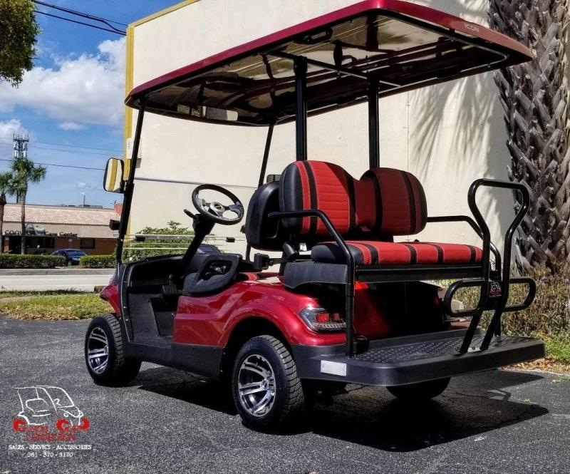 2021 ICON i40 Burgundy Golf Cart Electric Vehicle