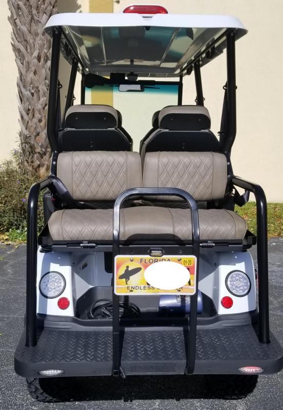 2020 White Tomberlin Ghosthawk Golf Cart