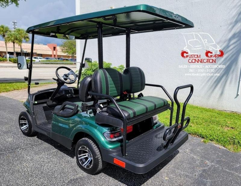 2021 ICON i40 Forest Green Golf Cart Electric