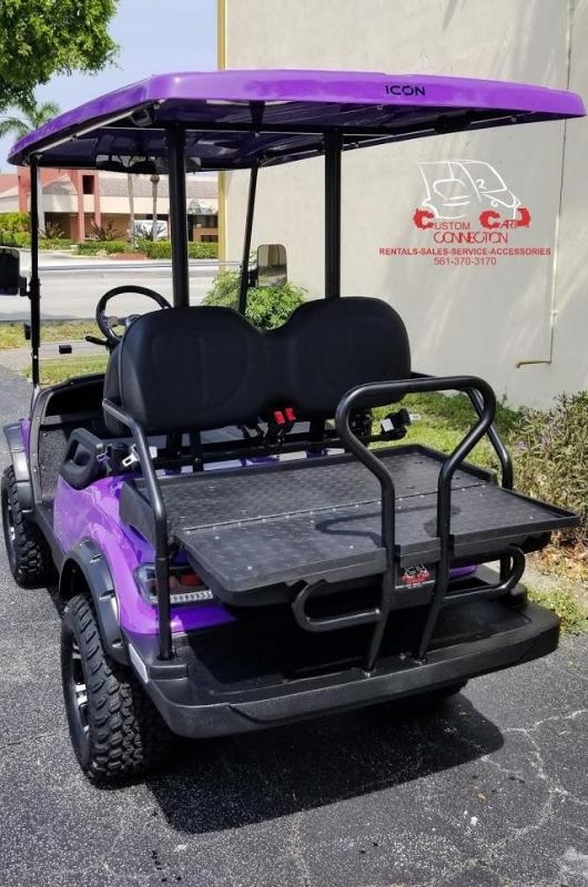 2020 ICON i40L Purple Golf Cart