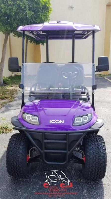 2021 ICON i40L Purple Golf Cart