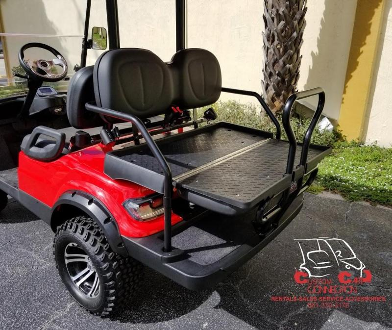 2020 ICON i40L Red Lifted Golf Cart Electric Vehicle