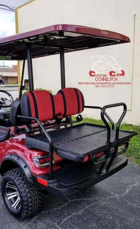 2021 ICON i40L Burgundy Lifted Golf Cart
