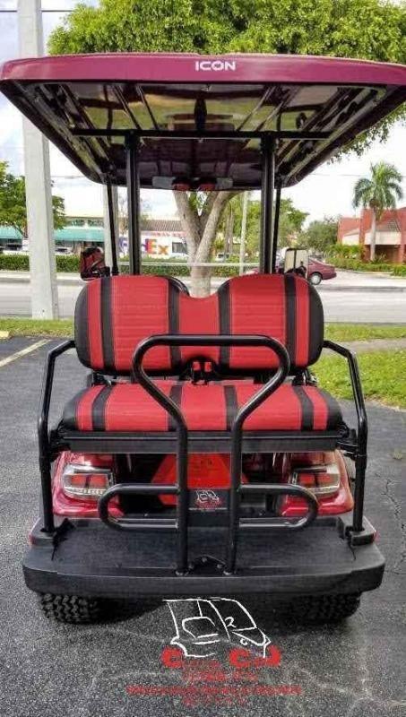 2021 ICON i40L Burgundy Lifted Golf Cart
