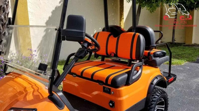 2021 ICON i40L Orange Lifted Golf Cart