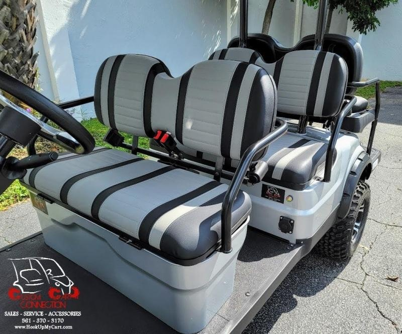 2021 ICON i60L Silver Metallic Lifted 6 Passenger Golf Cart Electric Vehicle