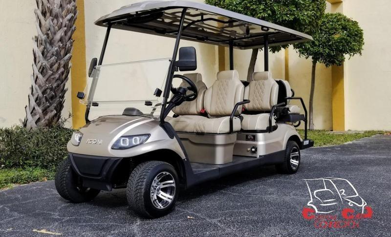 2020 ICON i60 6 Passenger Golf Cart w/Custom High Back Seats