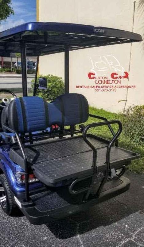 2021 ICON i40 Indigo Blue 4 Passenger Golf Cart