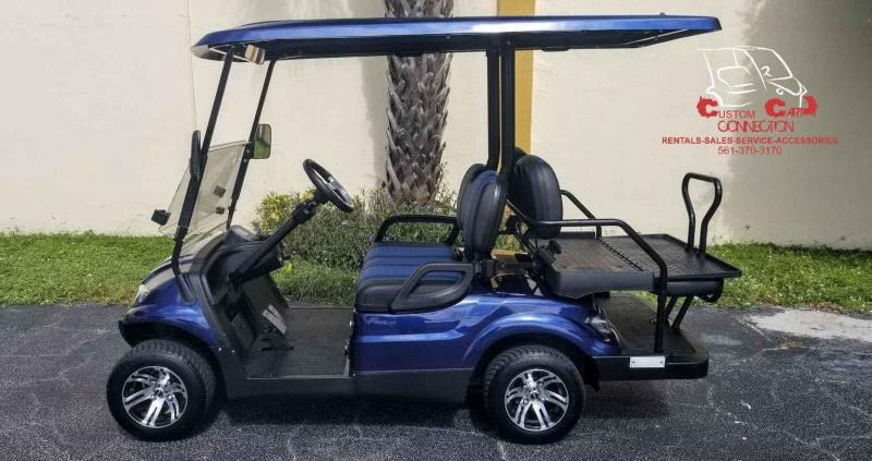2021 ICON i40 Indigo Blue 4 Passenger Golf Cart