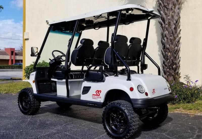 2021 Tomberlin Matte White Ghosthawk Golf Cart