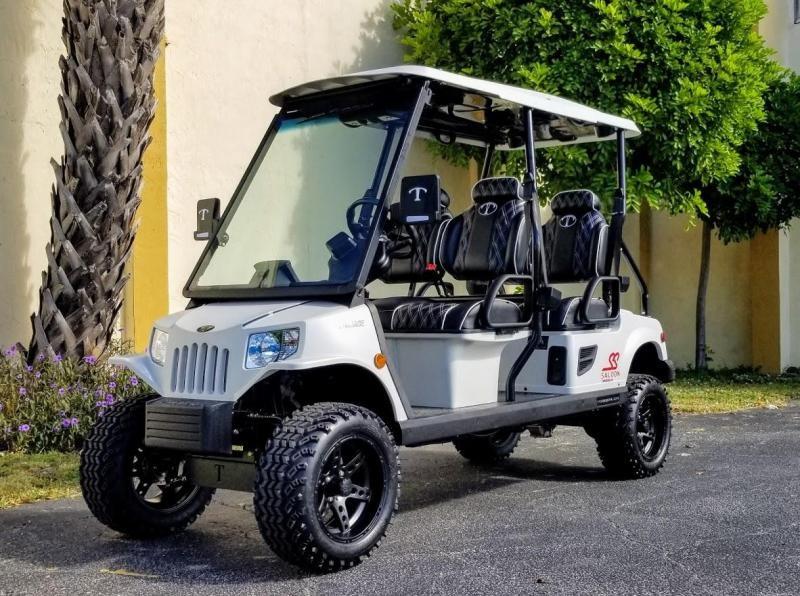 2021 Tomberlin Matte White Ghosthawk Golf Cart
