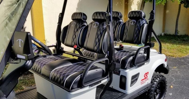 2022 Tomberlin Matte White Ghosthawk Golf Cart