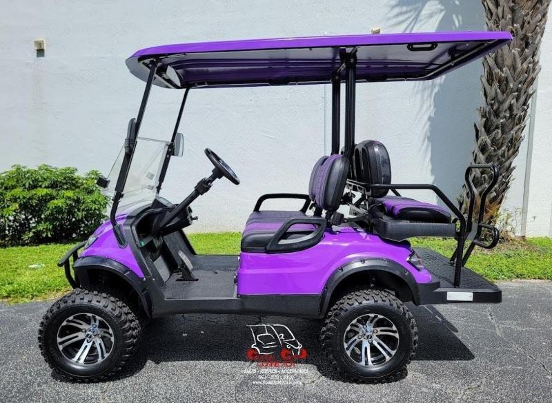 2021 ICON I40L Purple Metallic Lifted Golf Cart