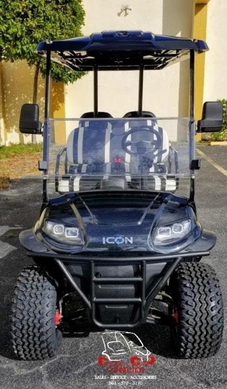 2021 ICON i60L Black Lifted 6 Passenger Golf Cart Electric Vehicle