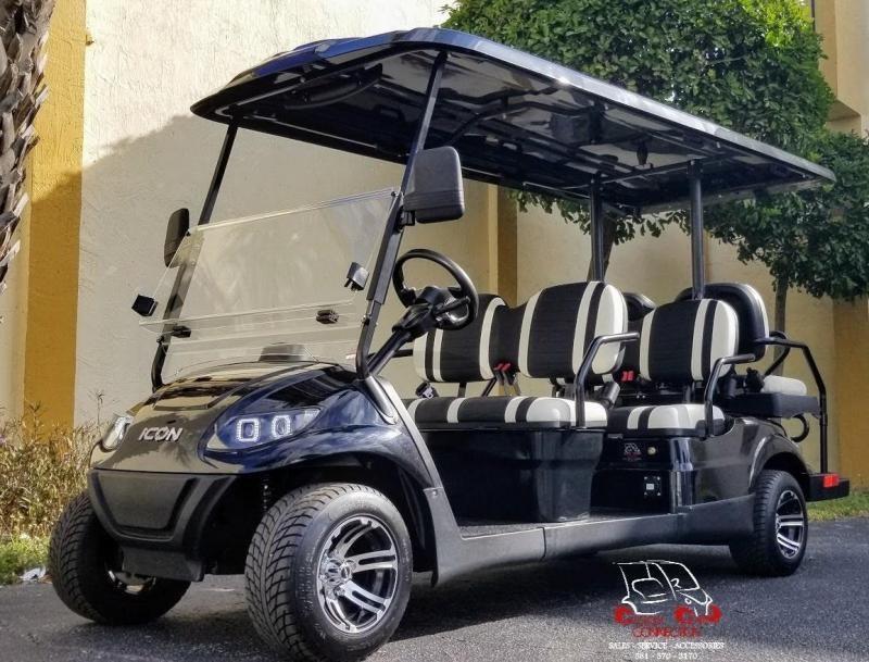 2021 ICON i60 Black 6 Passenger Golf Cart