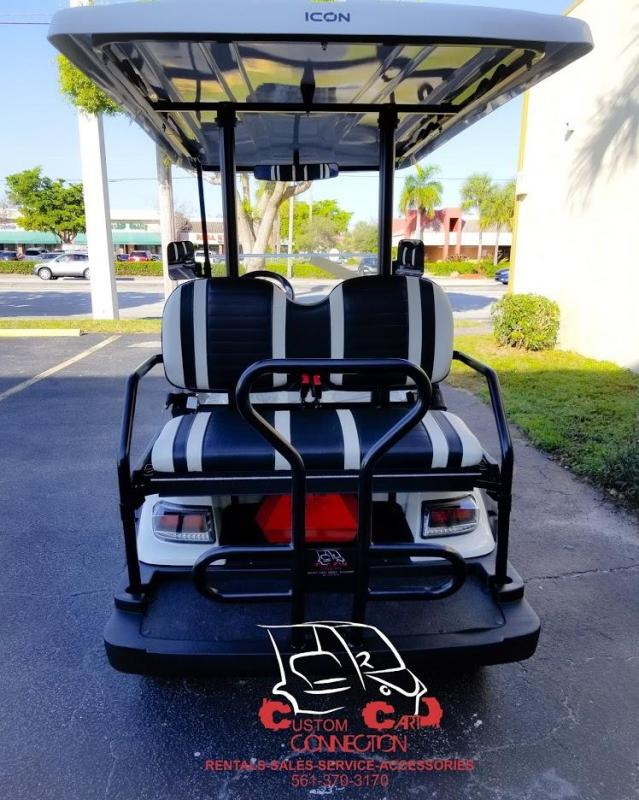 2020 ICON i40L Lifted 4 Passenger White Golf Cart Electric Vehicle