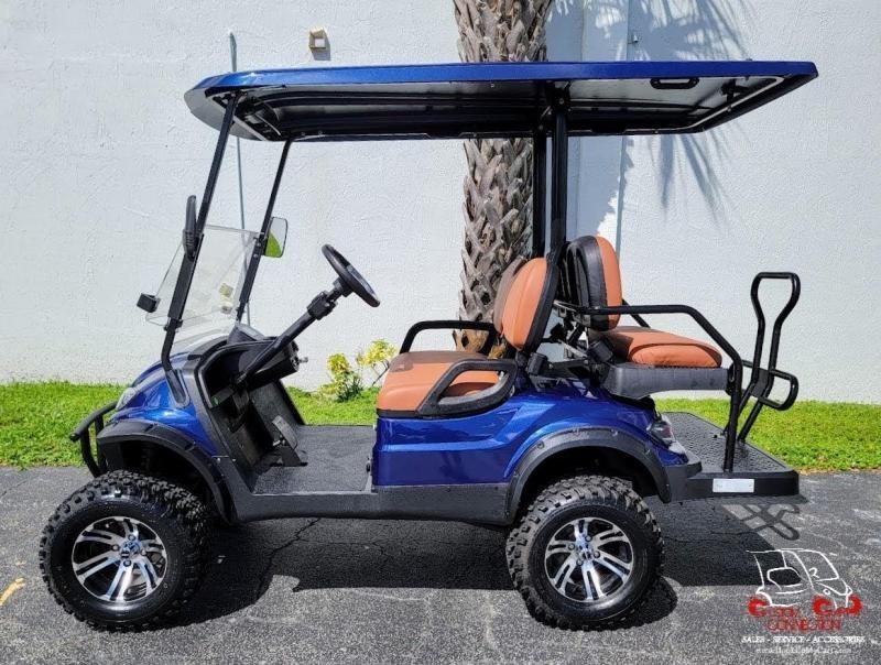 2022 ICON i40L Indigo Blue Golf Cart Electric Vehicle